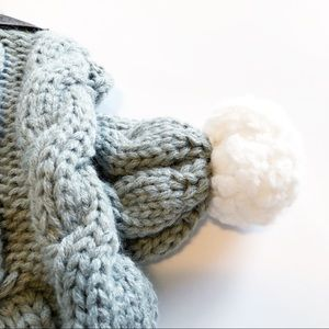 5b0783bf5 UGG Accessories | Sherpa Pet Cable Knit Scarf In Grey | Poshmark